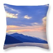 Tropical Mexican coast at sunset Throw Pillow by Elena Elisseeva