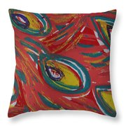 Tropical Peacock Throw Pillow by Jennifer Schwab