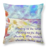 Trusting Throw Pillow by Michelle Greene Wheeler