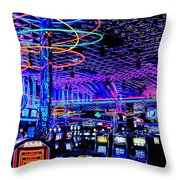 Try Your Luck Throw Pillow by Benjamin Yeager