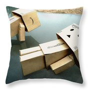 Trying To Get The Ultimate Flat Stomach Throw Pillow by Steve Taylor