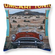 Tucumcari Tonight Mural On Route 66 Throw Pillow by Carol Leigh