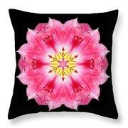 Tulip Peach Blossom IIi Flower Mandala Throw Pillow by David J Bookbinder