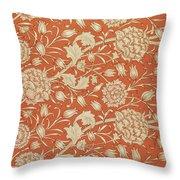 Tulip Wallpaper Design Throw Pillow by William Morris