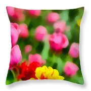 Tulips Throw Pillow by Amy Cicconi
