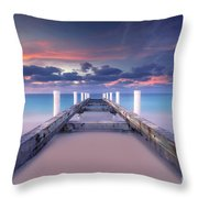 Turquoise Paradise Throw Pillow by Marco Crupi