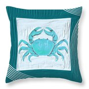 Turquoise Seashells Xix Throw Pillow by Lourry Legarde