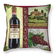 Tuscan Collage 1 Throw Pillow by Debbie DeWitt