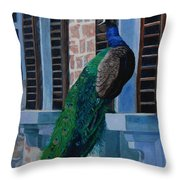 Tuscan Mascot Throw Pillow by Lynne Reichhart