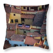 Tuscan Rooftops Throw Pillow by Inge Johnsson