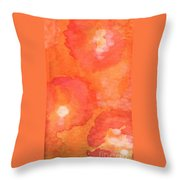 Tuscan Roses Throw Pillow by Linda Woods