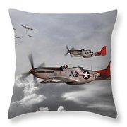 Tuskegee Airmen Throw Pillow by J Biggadike