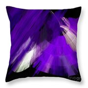 Tutu Stage Left Abstract Purple Throw Pillow by Andee Design