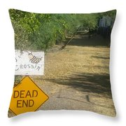 Tv Movie Homage Killer Bees 1974 B's Crossing Black Canyon City Arizona 2004 Throw Pillow by David Lee Guss