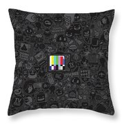 Tv Noise Throw Pillow by Gianfranco Weiss