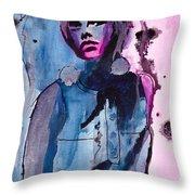 Twiggy Throw Pillow by Gracja Waniewska
