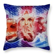 Twiggy Throw Pillow by Mo T