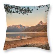 Twilight At Redfish Lake  Throw Pillow by Robert Bales
