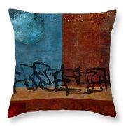 Twilight Walk Throw Pillow by Carol Leigh