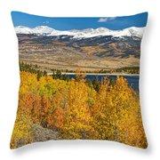 Twin Lakes Colorado Autumn Landscape Throw Pillow by James BO  Insogna