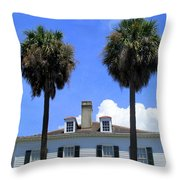 Twin Palms South Battery Throw Pillow by Randall Weidner