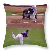 Twins Vs White Sox 2 Throw Pillow by Todd and candice Dailey
