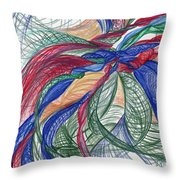 Twirls And Cloth Throw Pillow by Kelly K H B
