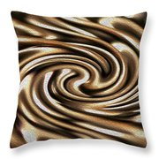 Twisted Chains Throw Pillow by Crystal Harman