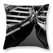 Two At Dock Throw Pillow by Karol  Livote