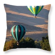 Two Balloons In Morning Sunshine Throw Pillow by Carol Groenen