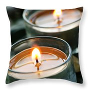 Two Candles Throw Pillow by Elena Elisseeva