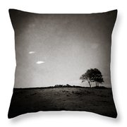 Two Clouds And A Tree Throw Pillow by Dave Bowman