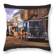 Two Fodens Throw Pillow by Mike  Jeffries