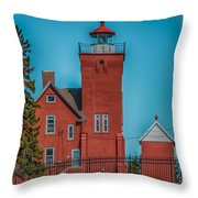 Two Harbors Lighthouse Throw Pillow by Paul Freidlund