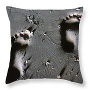 Two Left Feet Throw Pillow by Ramona Johnston