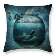 Two Lost Souls Throw Pillow by Erik Brede