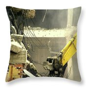 Tyrannosaurus Wrecks Throw Pillow by Joe Jake Pratt