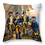 U S Navy Commander In Chief Of The Fleet Throw Pillow by The Werner Company