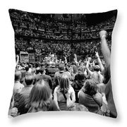 U2-Crowd-GP13 Throw Pillow by Timothy Bischoff