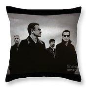 U2 Throw Pillow by Paul Meijering