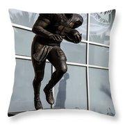 Uf Heisman Winner Tim Tebow  Throw Pillow by Lynn Palmer