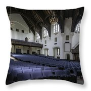 Uf University Auditorium Interior And Seating Throw Pillow by Lynn Palmer