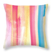 Umrbrella Stripe- contemporary abstract painting Throw Pillow by Linda Woods