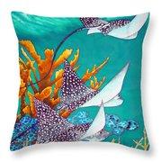 Under The Bahamian Sea Throw Pillow by Daniel Jean-Baptiste