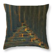 Under The Boardwalk Throw Pillow by Jack Zulli