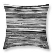 Under The Footbridge Throw Pillow by Christi Kraft