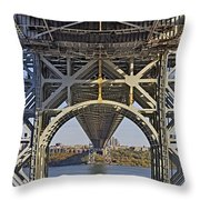 Under The George Washington Bridge I Throw Pillow by Susan Candelario