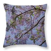 Under The Jacaranda Tree Throw Pillow by Rona Black