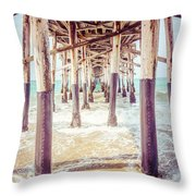 Under The Pier In Southern California Picture Throw Pillow by Paul Velgos