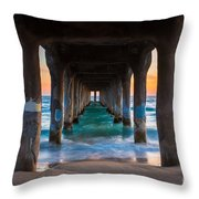 Under The Pier Throw Pillow by Inge Johnsson